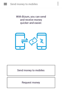 Send money to or request money from your friends mobile numbers