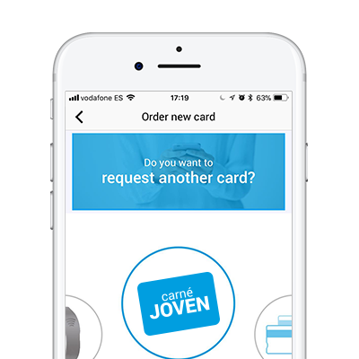 Do you want to request another card? Carné Joven